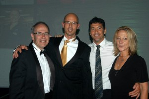 Mayor Len, Nigel, Dave and Moi